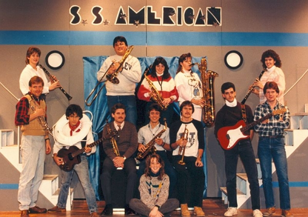 """Bentley College Musical production of """"Anything Goes"""" 1987"""