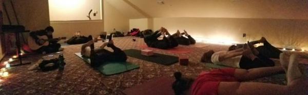 One of my private yoga classes