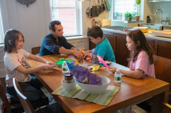 Teaching a group lesson at a home in New York.