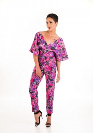 Flower Jumpsuit (Frontal View)