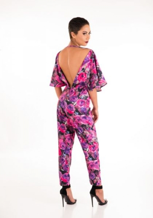 Flower Jumpsuit (Back View)