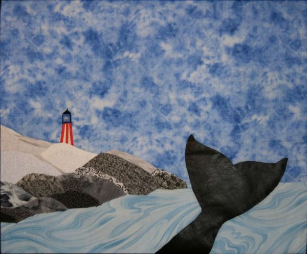 """Learn to make landscape quilts? This is... """"IN ALASKAN WATERS"""""""
