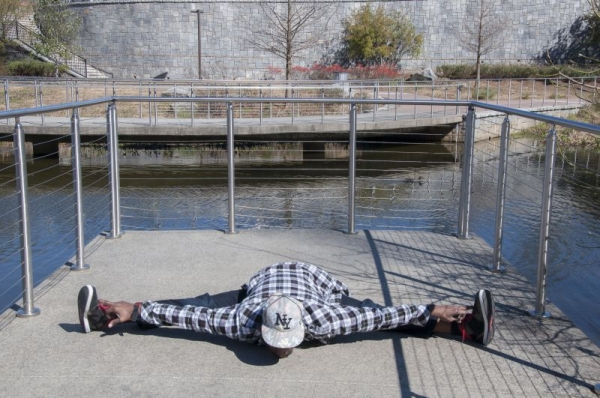 Digital Photo Project: Straddle Split at Old Fourth Ward