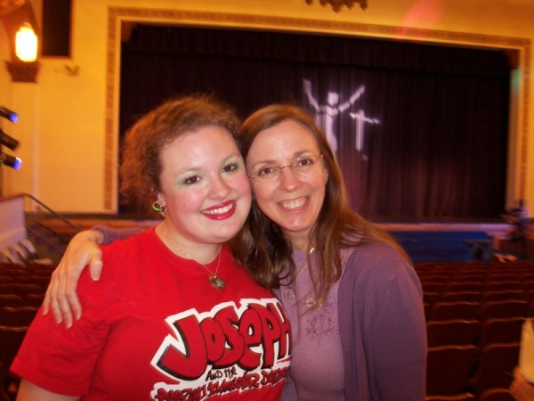 At CYT's production of Joseph and the Amazing Technicolor Dreamcoat with my daughter, who played The Narrator. 2009