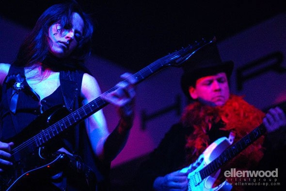 Andrew soloing with Charly Gienau of the band Many of Odd Nature in Los Angeles.
