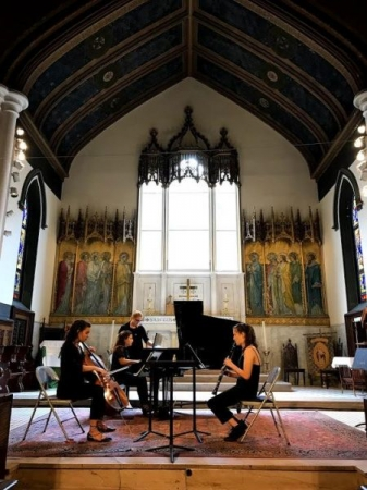 A performance of Louise Farrenc's Trio in E flat Major, sponsored by FemmelodyCMC.