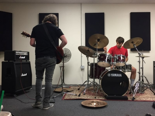 Jamming with my band Bearer