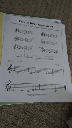 Helping a student create a song brings more confidence of knowing the notes and allowing them a chance to succeed in composing music.