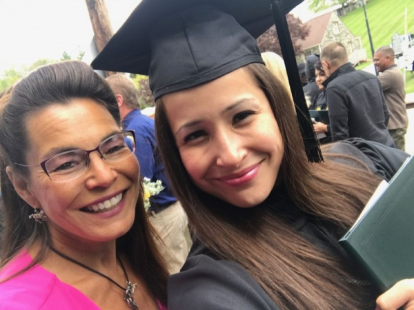 My mom and me on graduation day!
