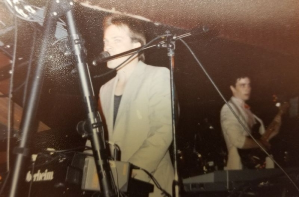 On stage with Coda in the '80's