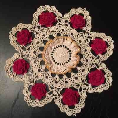 Holiday doily.