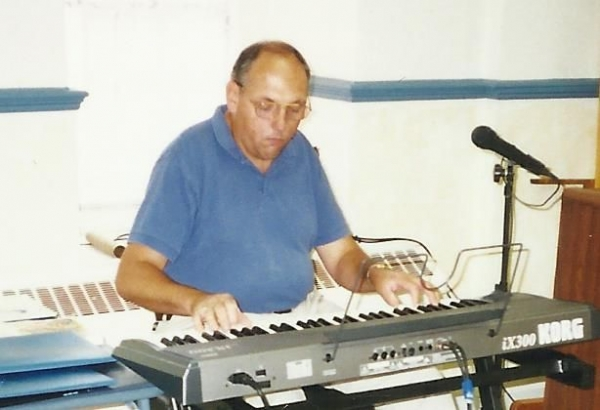 PLAYING A SOLO PERFORMANCE.