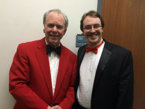 Backstage for Holiday Pops with Boston Civic Symphony