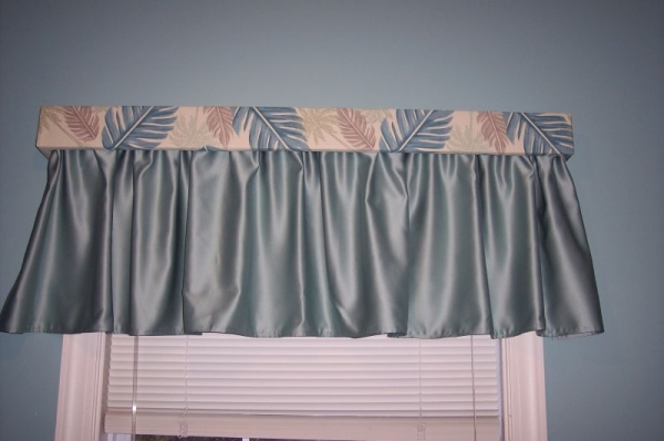 Curtains with Wood Top