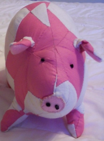 Quilted Piggy Toy