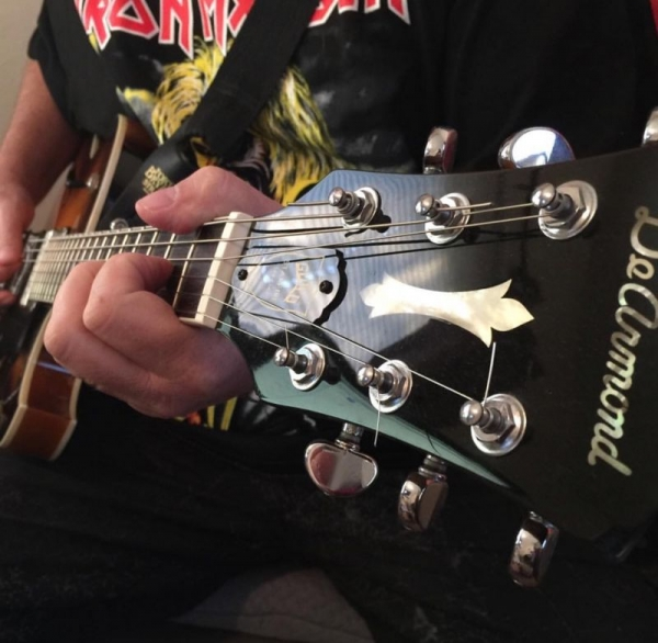 Playing my beautiful 1998 DeArmond Special Edition, semi-hollow body electric.