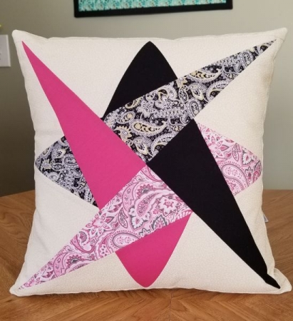 A fun Star quilted pillow we made this year.