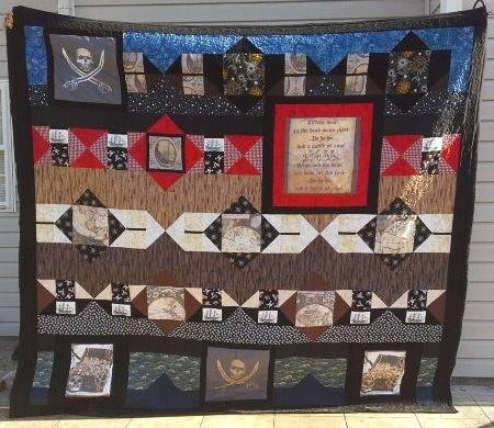 One of my favorites! The Pirate quilt. One of my first designs. 100% pieced King size.