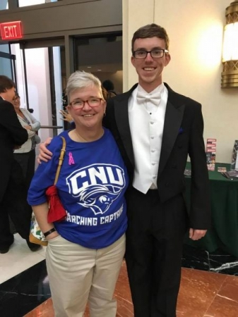 Post-concert with the CNU Wind Ensemble.