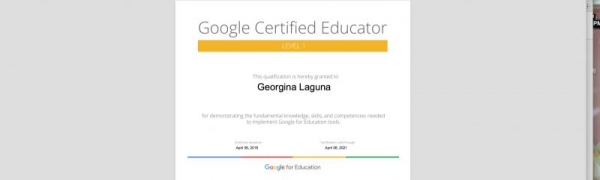 Google Certifies Educator