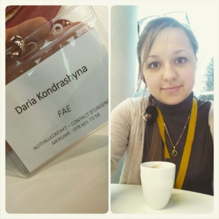 On a conference as a member of Federation of Student Associations of the University of Lausanne.