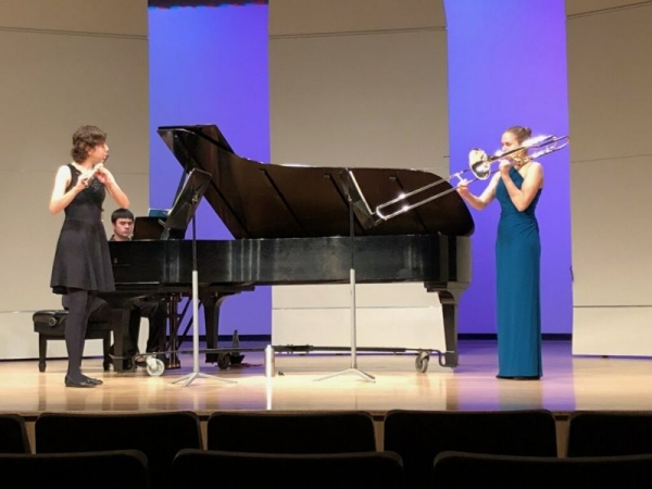 Master's Recital Duet with my fiancee