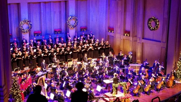 Playing principal on the Christmas shows with the San Diego Symphony