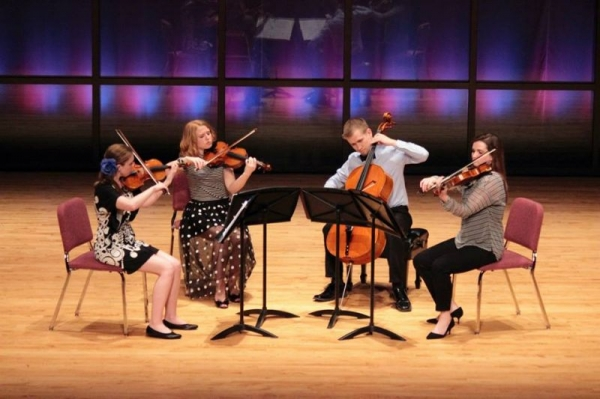 The Hilltop String Quartet performing at the Arianna Chamber Music Festival