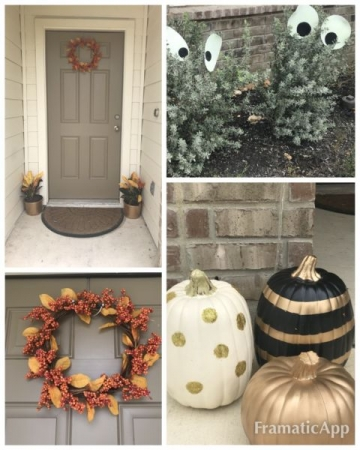 DIY Fall decorations project. ( all done by me )