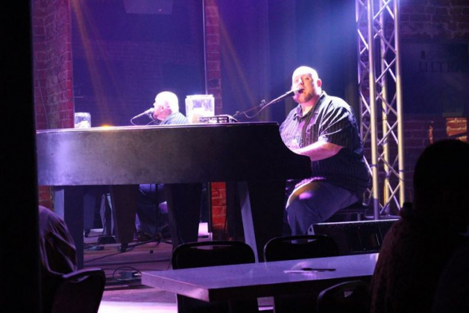 Playing dueling pianos in Joplin, MO.