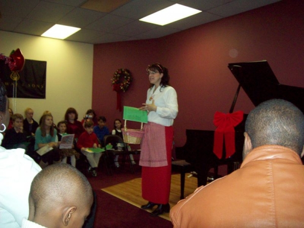 One of my recitals highlighting all my awesome students!  This picture is from the Christmas themed recital.