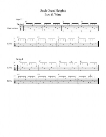 Custom tabs and notation made specifically for your lessons!