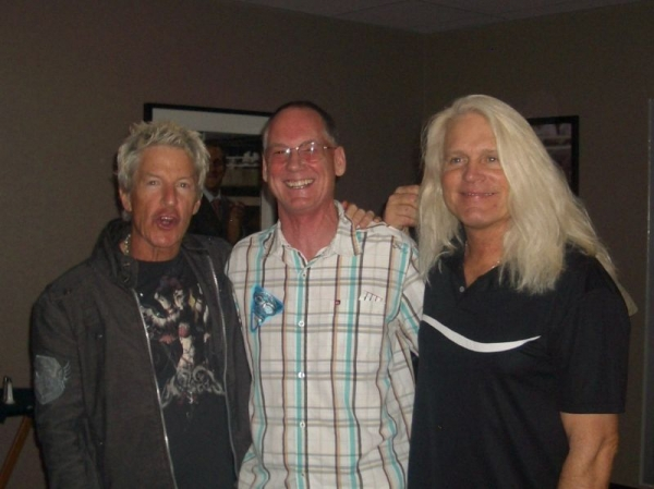 Brad with the lead singers of REO Speedwagon