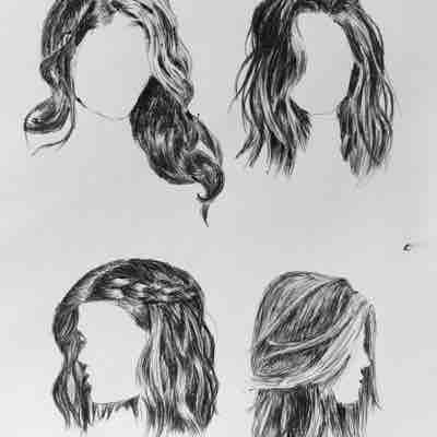 Female hair practice (pen)