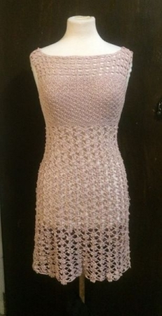 Crochet Dress with fitted bodice