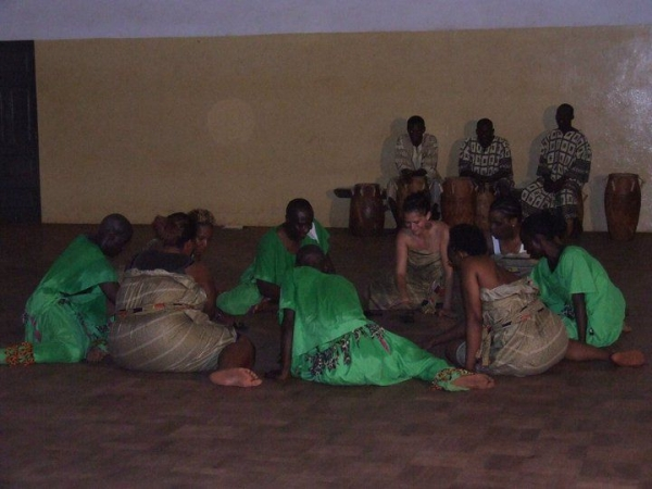 Studying with Ghanaian drumming and dance masters in Accra, Ghana