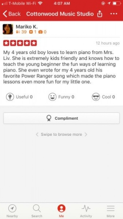 A yelp review from a 4 years-old parent.