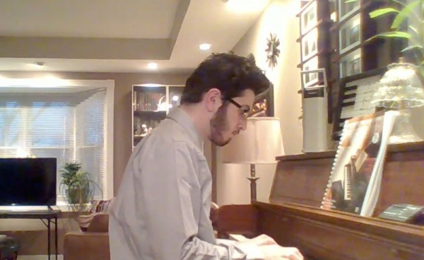 FEATURED STUDENT: This is Ian. He plays the piano and the string bass. He lives in Hanover Park, IL.