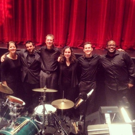 Me and the band for the full stage production of A Christmas Carol.