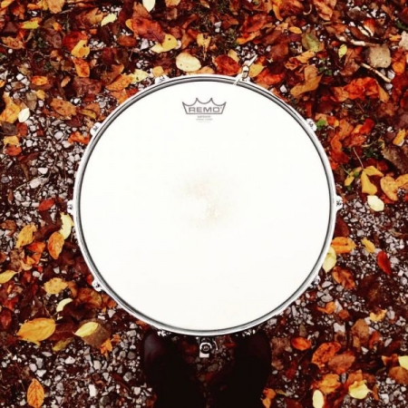 Fall themed picture of my DW Edge Snare taken in Nashville Tennessee while I was interning at Blackbird Studios.