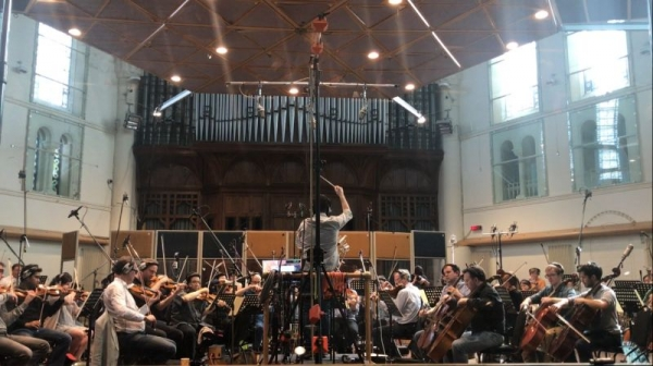 Recording an Orchestra in Air Studios in London! So cool!