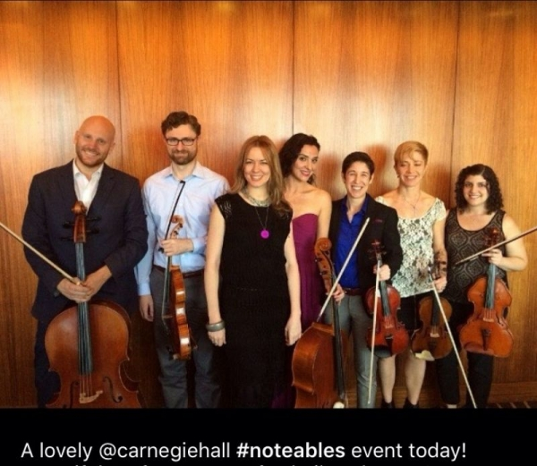 Carnegie Hall Notables Program in NYC.