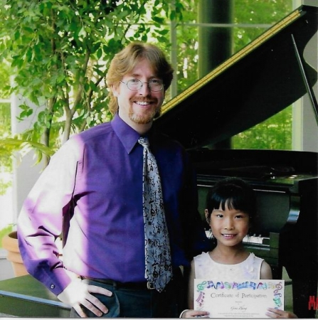 With Helena after the Spring Recital