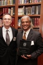 Receiving the Black Alumni Council Heritage Award Columbia University 2012