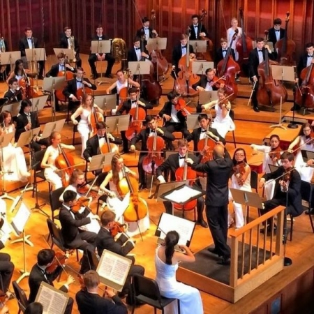 Performing Elgar's Engima Variations with Boston University Tanglewood Institute's Young Artist Orchestra 2015 as Principal Cellist.