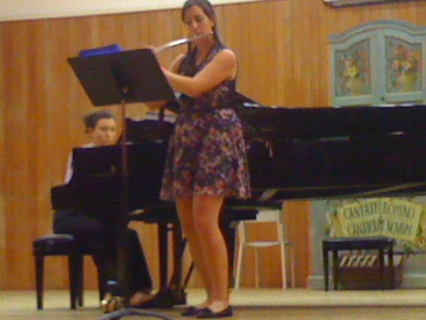 Recital at the Conservatory of Milan, Italy.  June, 2012