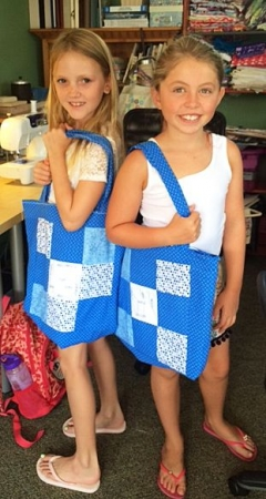 Twin quilt totes for bff's. I have many different projects for young children and tweens.