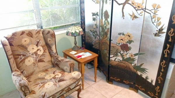Beautiful and relaxing waiting area!