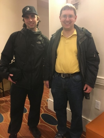 Me (left) with my chess coach National Master Peter Minear at the 2018 Philadelphia Open Chess Tournament.