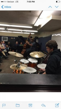 Playing at Victor Wooten's clinic